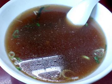 大量に残ったスープ