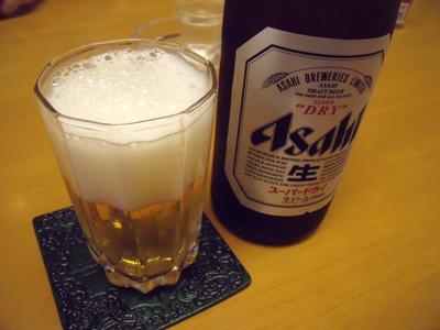 ビールでお疲れさん!
