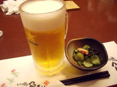 生ビールでお疲れさ~ん