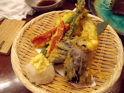 初夏の野菜天ぷら盛り