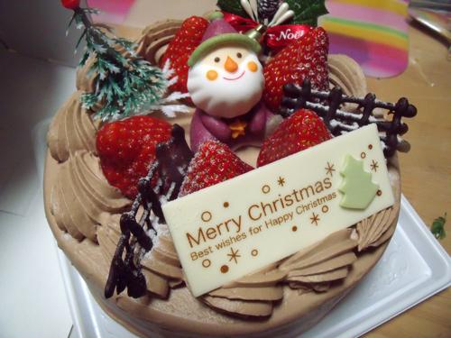 買ったのはチョコクリームのデコレーションケーキ