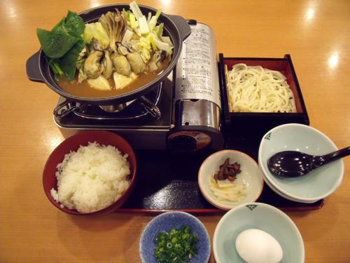 「かき味噌ちゃんこ鍋御膳」と雑炊セット