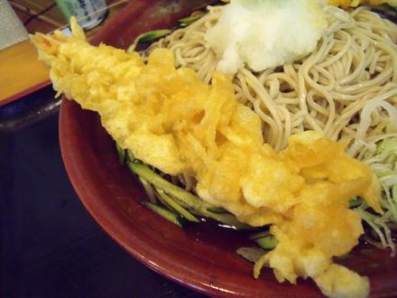 大きな海老の天ぷら