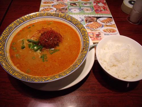 赤タンタン麺とごはん