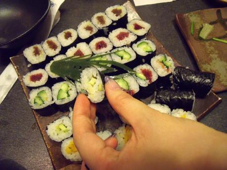 巻き寿司第2弾! ワサビ巻きが絶品!