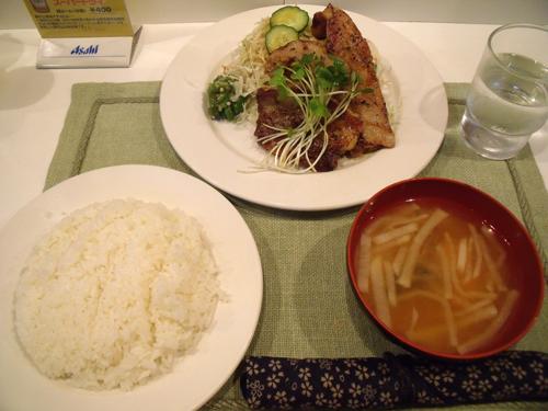 豚バラ肉香味焼き定食