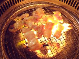 炭火で焼き焼き