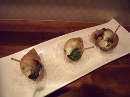 白ばい貝のガーリックオーブン焼きエスカルゴ風