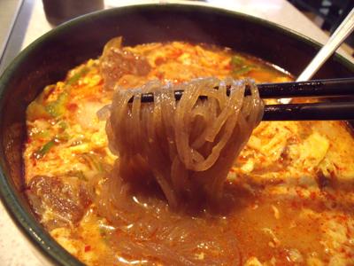麺のアップ