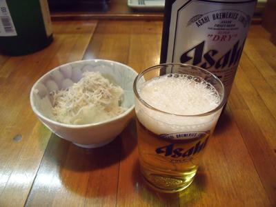 ビールとお通し
