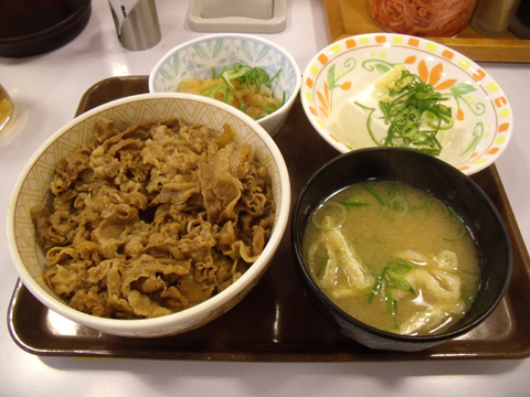 「おろしポン酢牛丼」&「健康セット」