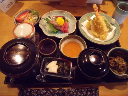 刺身天ぷら膳