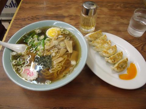 メンマラーメン+餃子