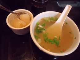 スープとデザート