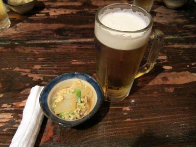 まずはビールで乾杯