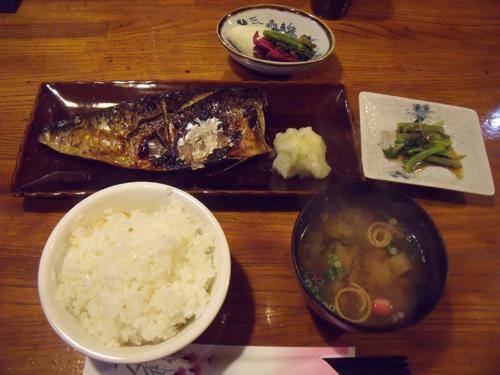 焼魚定食・サバ