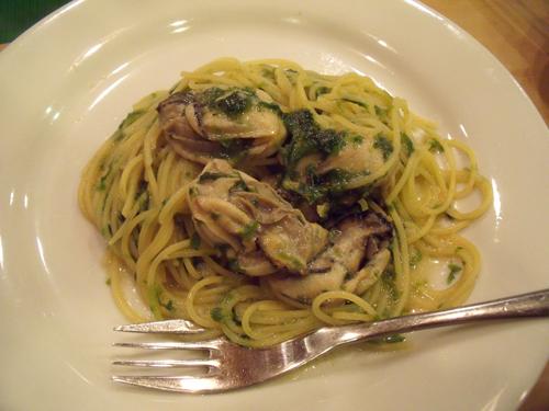 牡蠣と生のり ほんのり味噌風味