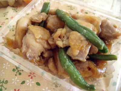 鶏肉とインゲンの甘辛煮