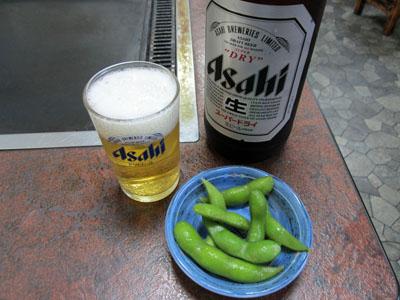 瓶ビールでお疲れちゃん