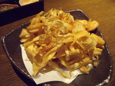 ごぼうとくわいの冬根菜チップス